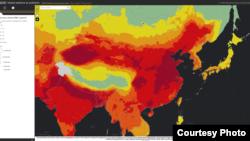 世界衛生組織近日發布的全球空氣污染PM2.5指數互動圖顯示,中國、印度恒河平原等地帶污染程度最高,四川盆地的空氣問題也比較嚴重