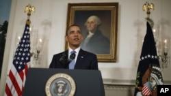 美國總統奧巴馬抨擊共和黨提高國債上限方案。