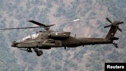 미군이 운영 중인 AH-64 '아파치' 공격헬기. (자료사진)