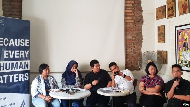 Para narasumber dalam konferensi pers memperingati Hari Menentang Hukuman Mati Sedunia 2019, di Jakarta, Kamis (10/10) (Ghita).