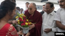 His Holiness Arrives in Andhra Pradesh