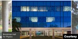 Toà nhà khoa Vật Lý đại học Rice. (Hình chụp trang web Rice University)