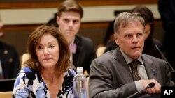 Ölen Amerikalı öğrencinin annesi Cindy ve babası Fred Warmbier