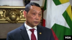 Aung Lynn, Myanmar's ambassador to the United States, says his nation's security forces didn't overreact in responding to attacks by Rohingya militants on August 25. Since then, nearly 390,000 Rohingya Muslims have fled to Bangladesh, as their villages have been burned and looted.