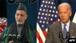 Hamid Karzai (levo) i Džozef Bajden