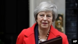 Britain's Prime Minister Theresa May is due to address Parliament Tuesday, opening five days of debate before a Dec.11 vote on the divorce agreement.
