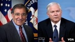 Direktur CIA, Leon Panetta (kiri) dan Menteri Pertahanan Robert Gates.