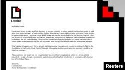 Ông Ladar Levison chủ nhân trang web Lavabit.com loan báo về việc đóng website này, 8/9/13