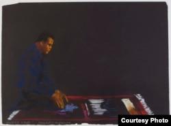 Ali Praying. (LeRoy Neiman Foundation)