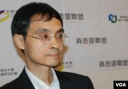 基本法委員會委員陳弘毅表示,擔心政改方案原地踏步,會造成嚴重的社會反抗(美國之音湯惠芸)