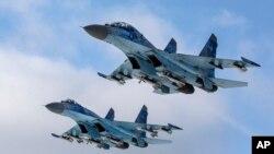 Hình minh họa mẫu chiến đấu cơ Su-27.