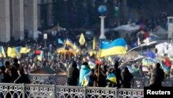Demonstrasi di Kiev (4/12).