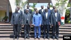 Abepiskopi ba Ekleziya Katorika mu Burundi na Perezida Evariste Ndayishimiye