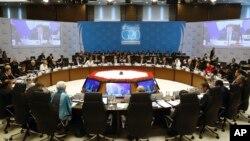 Pertemuan para pemimpin G20 di Antalya, Turki hari Senin (16/11).