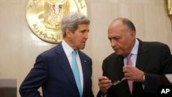 Američki državni sekretar John Kerry i egipatski ministar vanjskih poslova Sameh Shukri