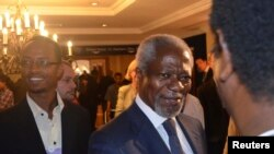 Kofi Annan after launching the 2012 African Progress Report during the World Economic Forum on Africa, Addis Ababa, May 11, 2012.
