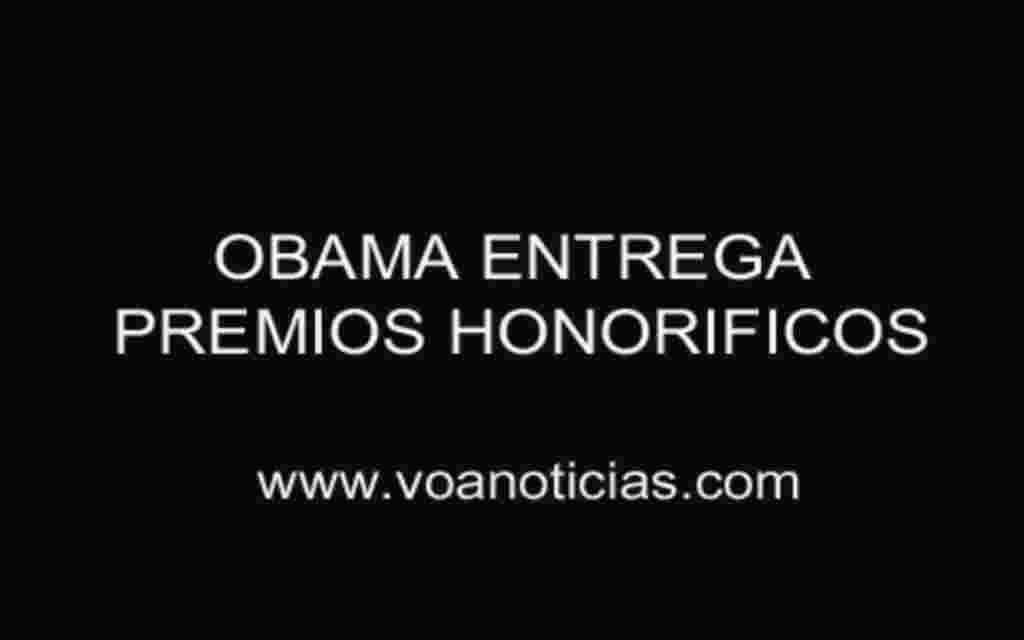 Obama entrega premios honoríficos