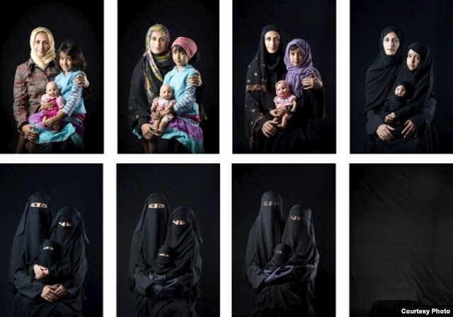 Boushra Almutawakel, a photographer from Yemen who wears a headscarf, opposes extreme covering because it makes women disappear. (International Museum of Women)