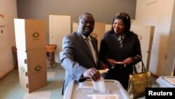 Morgan Tsvangirai et son épouse à Harare