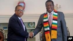 United States Ambassador to Zimbabwe Brian Nichols Meets Zimbabwe's Emmerson Mnangagwa
