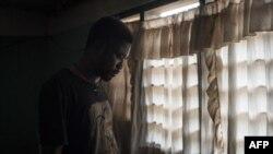 Albert Oppong, 30 ans, diplômé mais qui n'a pas trouvé d'emploi qualifié depuis cinq ans, à Dormaa-Ahenkro dans la région de Brong-Ahafo au Ghana, le 3 mai 2018.