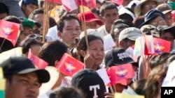 میانمار میں فوج کی حمایت میں بدھ قوم پرستوں اور فوج کے حامیوں کا مظاہر۔ 29 اکتوبر2017