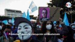 EN FOTOS: Manifestantes en Guatemala exigen renuncia del presidente Giammattei