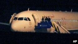 Suriah mengeluarkan larangan melintasi wilayah udara bagi penerbangan sipil Turki, Sabtu (13/10).
