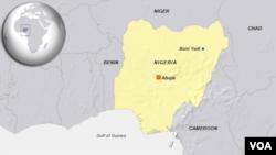 Mapa Nigerije na kojoj je označen grad u kojem se dogodio napad