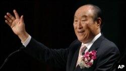 Mục sư Sun Myung Moon, người sáng lập Giáo hội Thống Nhất
