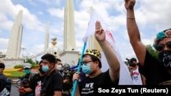 Người Thái biểu tình ở Bangkok hôm 24/6/2021.