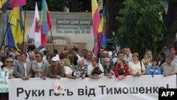 Пикеты в поддержку Юлии Тимошенко.