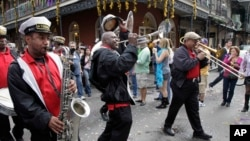The Treme Jazz Band in New Orleans, Louisiana