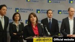 Potpredsednica DS-a Nataša Vučković na konferenciji za novinare