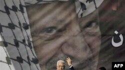 Palestinski predsednik Mahmud Abas govori tokom skupa kojim je obeležena šesta godišnjica smrti njegovog prethodnika Jasera Arafata, Zapadna obala, 11. novembar 2010.