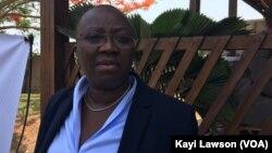 La directrice de l'Inam, Myriam Dossou, à Lomé, le 17 mars 2017. (VOA/Kayi Lawson)