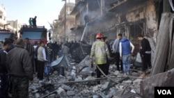 敘利亞政府軍猛轟阿勒頗