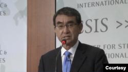 日本防衛大臣河野太郎2020年1月14日在CSIS講話(CSIS視頻截圖)