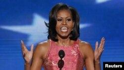 Michelle Obama dijo en la Convención que la historia de EE.UU. ha sido siempre lograr lo imposible.