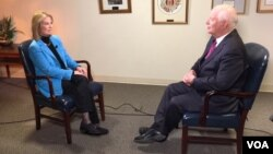 Senator Ben Cardin (D-MD), the highest-ranking Democrat on the Senate Foreign Relations Committee talks to VOA contributor Greta Van Susteren, Friday, Jan. 5, 2018 in Washington, D.C. (Photo: D. Furtrowsky / VOA)