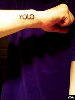 Yolo tattoo