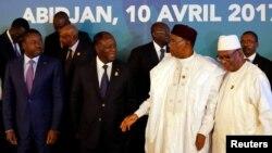 Shugaban kasar Niger Mohammadou Isugu da shugaban Togo