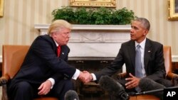 Prvi put u Bijeloj kući: Obama i Trump, aktualni i novoizabrani predsjednik SAD