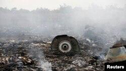 Lokasi jatuhnya pesawat Malaysia Airlines Boeing 777 di Grabovo, Donetsk di Ukraina Timur (17/7).