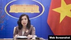 Người phát ngôn Bộ Ngoại giao Việt Nam Lê Thị Thu Hằng. Ảnh: Bộ Ngoại giao.