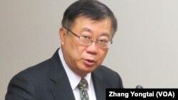 台湾农委会主委 陈保基(美国之音张永泰拍摄)