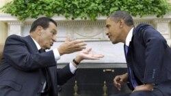 باراک اوباما رییس جمهوری آمریکا در راست و حسنی مبارک رییس جمهوری مصر - آرشیو