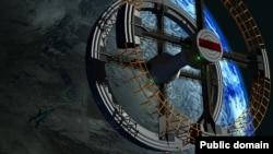 عکس تزئینی - طرحی از یک ایستگاه فضایی
