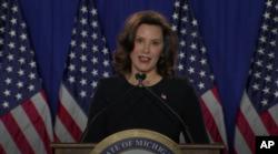 Michigan gubernatori Gretchen Uitmer demokratlar nomidan gapirdi