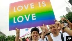 圖為台灣的支持同性戀者遊行資料照。
